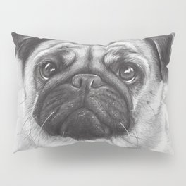 Cute Pug Dog Animal Pugs Portrait Pillow Sham