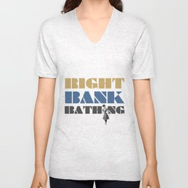 Right bank bathing Unisex V-Neck