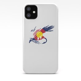 Colorado Fly Fishing Hook Flag River Men iPhone Case