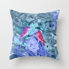 blue&birds Throw Pillow