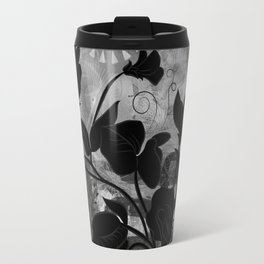 Queen Sweet Pea -- grayscale Travel Mug