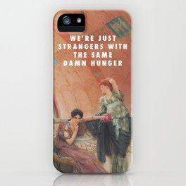 Lawrence Alma-Tadema, Unconscious Rivals (1893) / Halsey, Strangers ft. Lauren Jauregui (2017) iPhone Case