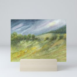 Precious Green Watercolor Landscape Mini Art Print