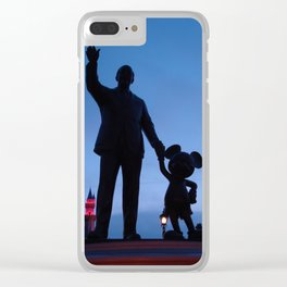 Partners Disneyland at Dawn Clear iPhone Case