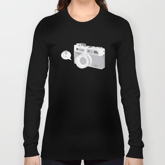"Yashica Camera - ""Say Cheese"" - soft-brown Long Sleeve T-shirt"