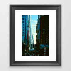 Busy City Framed Art Print