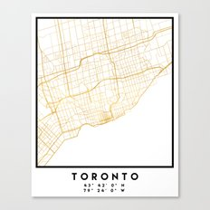 TORONTO CANADA CITY STREET MAP ART Canvas Print