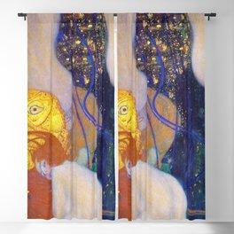 12,000pixel-500dpi - Gustav Klimt - Goldfische - Digital Remastered Edition Blackout Curtain