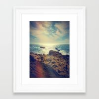 chile Framed Art Prints featuring Quintero, Chile. by Viviana Gonzalez