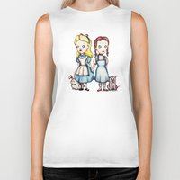 dorothy Biker Tanks featuring Alice & Dorothy by Ludwig Van Bacon