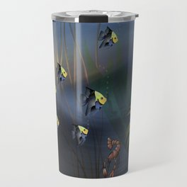 Tropical Underwater Wave  Travel Mug