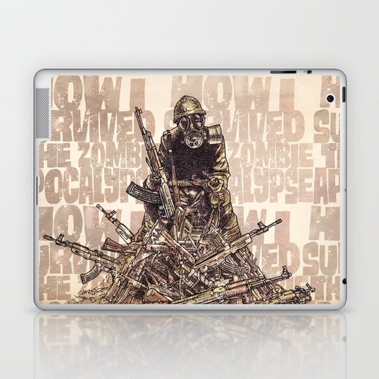 How I Survived The Zombie Apocalypse (colour option) Laptop & iPad Skin