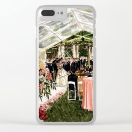 Casey & Davis Swan House Live Painting Clear iPhone Case