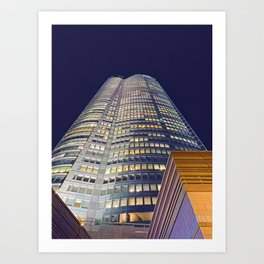 Roppongi Hills Mori Tower at Night - Purple Sky Art Print