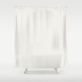 Gold ticking stripes Shower Curtain