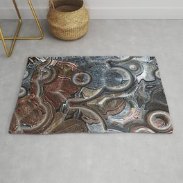 Abstract Coins Rug