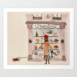 Chapellerie Art Print
