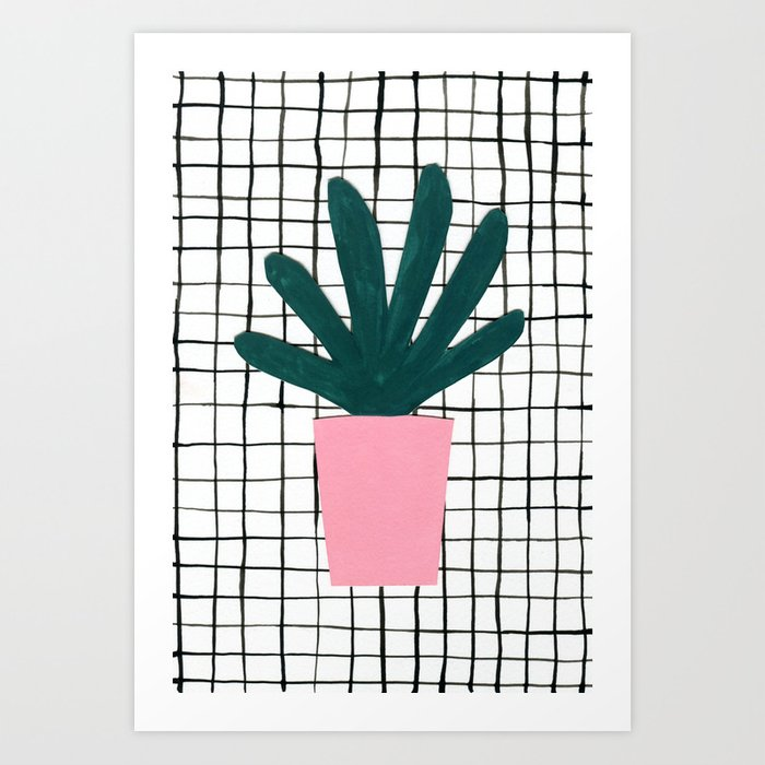 Plant Pot Art Print