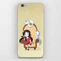 princess iPhone & iPod Skins featuring Princess by Freeminds