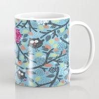 owls Mugs featuring Owls. by panova