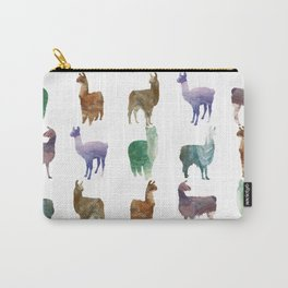 Llamas Pattern Carry-All Pouch