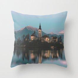 Bled, Slovenia III Throw Pillow