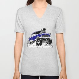 55 Gasser REV-3 BLUE Unisex V-Neck