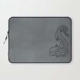 Dive Deep - Black and White Laptop Sleeve