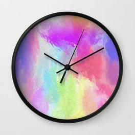 Marbled Rainbow Wall Clock
