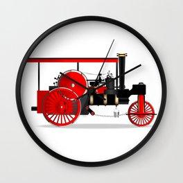 Vintage Steam Roller Wall Clock
