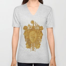 Golden Arms of the Chevalier d'Orléans Unisex V-Neck