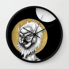 Cosmic Owl Wall Clock