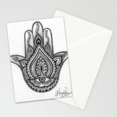 Hamsa hand Illustration (Evil Eye) protection/good luck - By Ashley Rose Standish Stationery Cards
