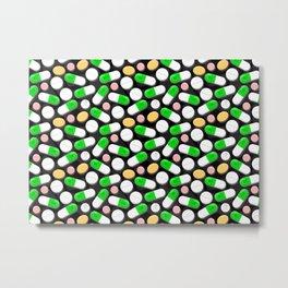 Deadly Pills Pattern Metal Print