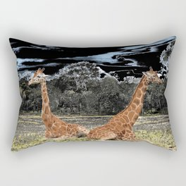 Giraffe Duo Rectangular Pillow