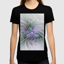 Abstract Floral Fractal Art T-shirt