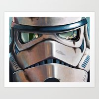 stormtrooper Art Prints featuring Stormtrooper by Mel Hampson