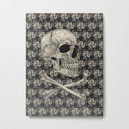 Crossbones Metal Print