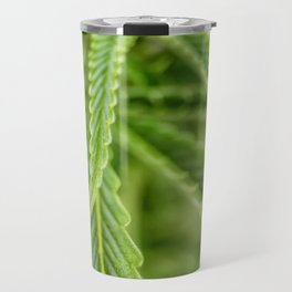 Weed Love 420 Marijuana plant photograph Travel Mug