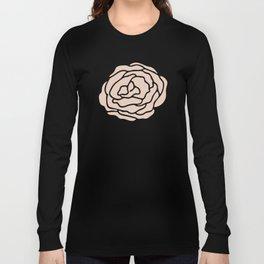 Rose Vintage Pink on Petal Cream Long Sleeve T-shirt