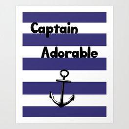 Captain Adorable Art Print