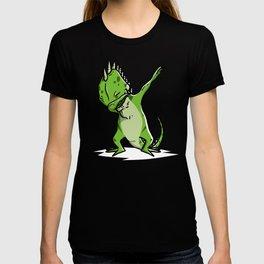 Funny Dabbing Iguana Reptile Dab Dance T-shirt