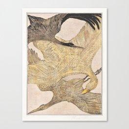 Theo van Hoytema - Drie vliegende vogels Canvas Print