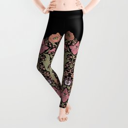 Spring Pattern with Poppy Flowers and Gladioli II Leggings