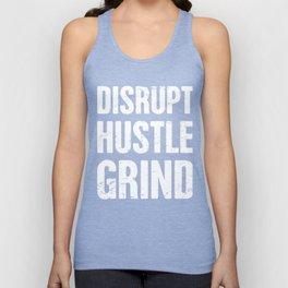 DISRUPT, HUSTLE, GRIND | Entrepreneur Design Unisex Tank Top