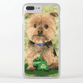 Kiss me I'm Irish | Yorkie Giraffe | Yorkies | Dogs | nbKiss Clear iPhone Case