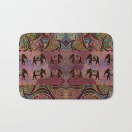 Floral Elephants #2 Bath Mat