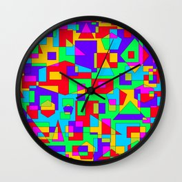 abstract geometric colorful background Wall Clock