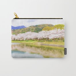 Cherry tree and pond Carry-All Pouch