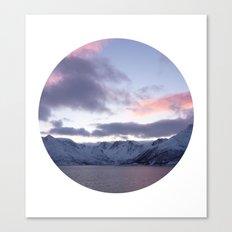 Telescope 8 ice mountain sunset Canvas Print